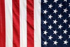De vlag die van de V.S. verticaal hangen royalty-vrije stock afbeelding