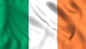 De vlag die van Ierland in de wind golven stock illustratie