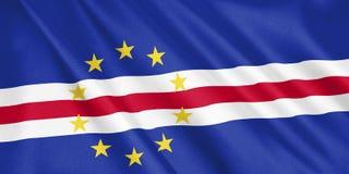 De vlag die van Kaapverdië met de wind golven stock illustratie