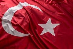 De vlag die van Turkije in de wind golven - bovenkant van mening royalty-vrije stock afbeeldingen