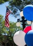 De Vlag en de ballons van Verenigde Staten royalty-vrije stock fotografie