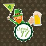 De vlag en bier 17 van de kabouterholding maart viering Royalty-vrije Stock Afbeelding