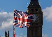 De vlag en Big Ben van Union Jack Royalty-vrije Stock Foto's