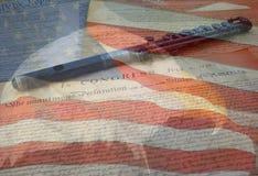 De Vlag en de Documenten van de adelaar Stock Afbeeldingen