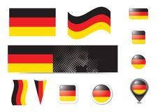 De vlag en de knopen van Duitsland Royalty-vrije Stock Foto