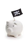 De Vlag en het Spaarvarken van de piraat Royalty-vrije Stock Afbeelding