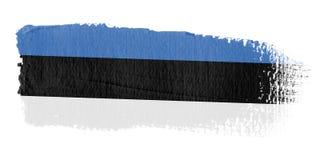 De Vlag Estland van de penseelstreek Stock Foto