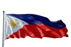 De vlag Filippijnen isoleerde Stock Fotografie
