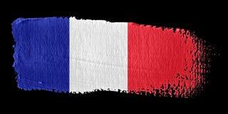 De Vlag Frankrijk van de penseelstreek stock illustratie