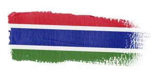 De Vlag Gambia van de penseelstreek Stock Afbeelding