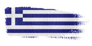 De Vlag Griekenland van de penseelstreek Royalty-vrije Stock Afbeeldingen