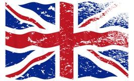 De Vlag Grunged van het Verenigd Koninkrijk stock illustratie