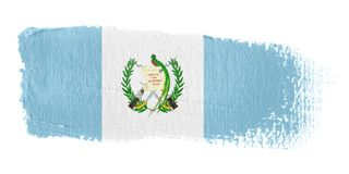 De Vlag Guatemala van de penseelstreek Stock Afbeelding