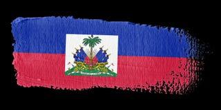 De Vlag Haïti van de penseelstreek Stock Afbeelding