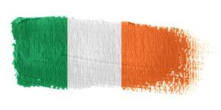 De Vlag Ierland van de penseelstreek royalty-vrije illustratie