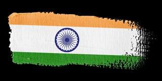 De Vlag India van de penseelstreek Stock Afbeeldingen