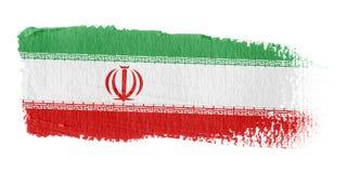 De Vlag Iran van de penseelstreek Stock Foto