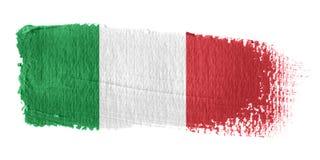 De Vlag Italië van de penseelstreek Stock Afbeeldingen