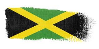 De Vlag Jamaïca van de penseelstreek stock illustratie