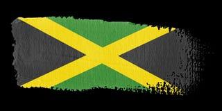De Vlag Jamaïca van de penseelstreek vector illustratie