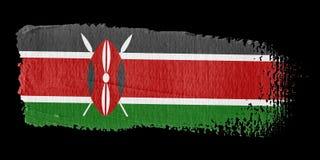 De Vlag Kenia van de penseelstreek royalty-vrije illustratie