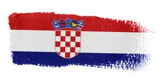De Vlag Kroatië van de penseelstreek Royalty-vrije Stock Foto