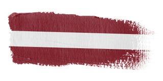 De Vlag Letland van de penseelstreek Royalty-vrije Stock Foto's