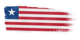 De Vlag Liberia van de penseelstreek Stock Afbeeldingen