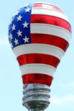 De Vlag Lightbulb van de V.S. Stock Afbeelding