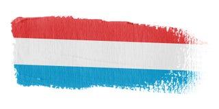 De Vlag Luxemburg van de penseelstreek Stock Fotografie
