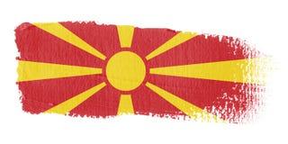 De Vlag Macedonië van de penseelstreek Royalty-vrije Stock Foto