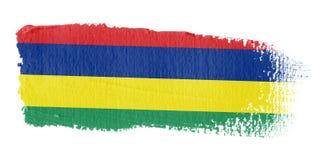 De Vlag Mauritius van de penseelstreek Royalty-vrije Stock Fotografie