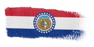 De Vlag Missouri van de penseelstreek Stock Afbeeldingen