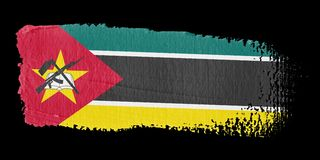 De Vlag Mozambique van de penseelstreek Royalty-vrije Stock Afbeelding