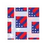 De vlag naadloos patroon van Amerika vector illustratie