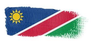 De Vlag Namibië van de penseelstreek Stock Afbeeldingen