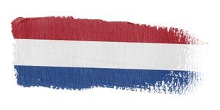 De Vlag Nederland van de penseelstreek Royalty-vrije Stock Afbeeldingen