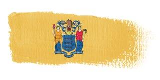 De Vlag New Jersey van de penseelstreek Stock Afbeelding