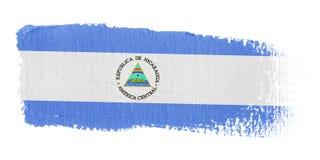 De Vlag Nicaragua van de penseelstreek Stock Afbeelding