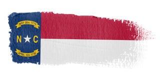 De Vlag Noord-Carolina van de penseelstreek Stock Foto