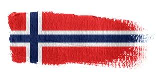 De Vlag Noorwegen van de penseelstreek vector illustratie