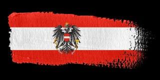 De Vlag Oostenrijk van de penseelstreek Royalty-vrije Stock Afbeeldingen