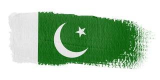 De Vlag Pakistan van de penseelstreek Royalty-vrije Stock Afbeelding
