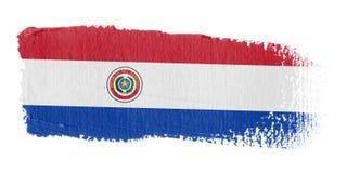 De Vlag Paraguay van de penseelstreek Royalty-vrije Stock Afbeeldingen
