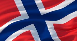 De vlag patriottische achtergrond van Noorwegen, 3d illustratie royalty-vrije illustratie
