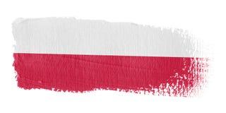 De Vlag Polen van de penseelstreek Royalty-vrije Stock Fotografie