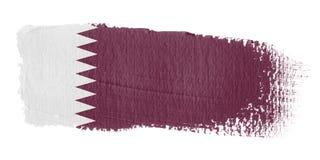 De Vlag Qatar van de penseelstreek Stock Afbeelding