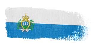De Vlag San Marino van de penseelstreek Stock Foto