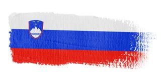 De Vlag Slovenië van de penseelstreek Royalty-vrije Stock Afbeelding