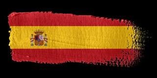 De Vlag Spanje van de penseelstreek royalty-vrije illustratie